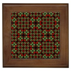 Asian Ornate Patchwork Pattern Framed Tiles by dflcprints