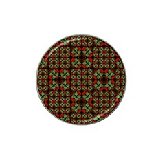 Asian Ornate Patchwork Pattern Hat Clip Ball Marker (4 Pack) by dflcprints