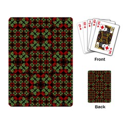 Asian Ornate Patchwork Pattern Playing Card by dflcprints