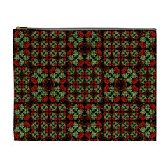 Asian Ornate Patchwork Pattern Cosmetic Bag (xl) by dflcprints