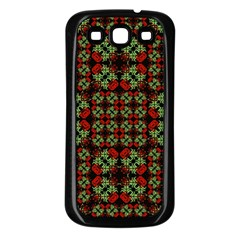 Asian Ornate Patchwork Pattern Samsung Galaxy S3 Back Case (black) by dflcprints