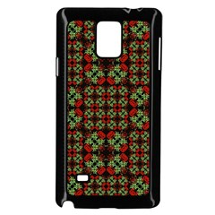 Asian Ornate Patchwork Pattern Samsung Galaxy Note 4 Case (black) by dflcprints