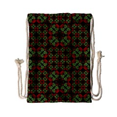 Asian Ornate Patchwork Pattern Drawstring Bag (small) by dflcprints