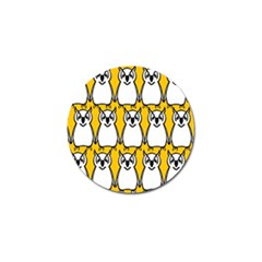 Yellow Owl Background Golf Ball Marker (10 Pack) by Simbadda