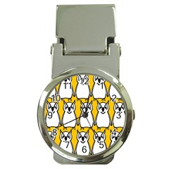 Yellow Owl Background Money Clip Watches by Simbadda