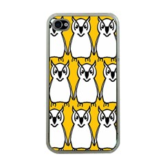 Yellow Owl Background Apple Iphone 4 Case (clear) by Simbadda