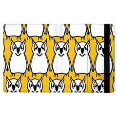 Yellow Owl Background Apple Ipad 3/4 Flip Case by Simbadda