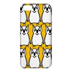 Yellow Owl Background Apple Iphone 5c Hardshell Case by Simbadda