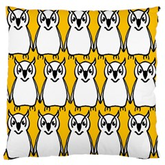 Yellow Owl Background Large Flano Cushion Case (two Sides) by Simbadda
