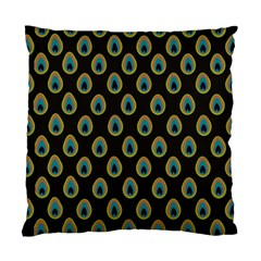 Peacock Inspired Background Standard Cushion Case (two Sides) by Simbadda