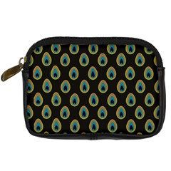 Peacock Inspired Background Digital Camera Cases by Simbadda