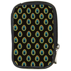 Peacock Inspired Background Compact Camera Cases by Simbadda