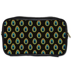 Peacock Inspired Background Toiletries Bags by Simbadda