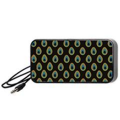 Peacock Inspired Background Portable Speaker (black) by Simbadda