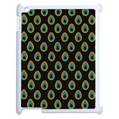 Peacock Inspired Background Apple Ipad 2 Case (white) by Simbadda