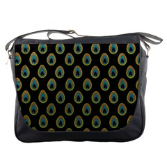 Peacock Inspired Background Messenger Bags by Simbadda