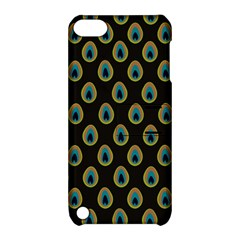 Peacock Inspired Background Apple Ipod Touch 5 Hardshell Case With Stand by Simbadda