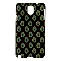 Peacock Inspired Background Samsung Galaxy Note 3 N9005 Hardshell Case by Simbadda