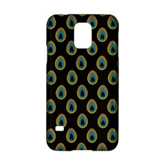 Peacock Inspired Background Samsung Galaxy S5 Hardshell Case  by Simbadda