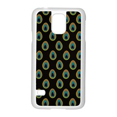 Peacock Inspired Background Samsung Galaxy S5 Case (white) by Simbadda
