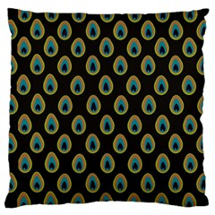 Peacock Inspired Background Standard Flano Cushion Case (one Side) by Simbadda