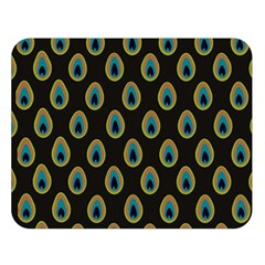 Peacock Inspired Background Double Sided Flano Blanket (large)  by Simbadda