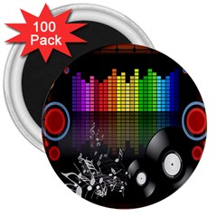 Music Pattern 3  Magnets (100 Pack) by Simbadda