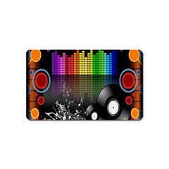 Music Pattern Magnet (name Card) by Simbadda