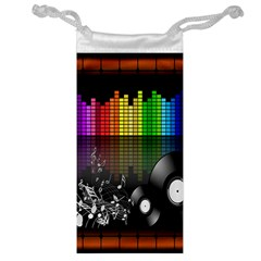 Music Pattern Jewelry Bag by Simbadda