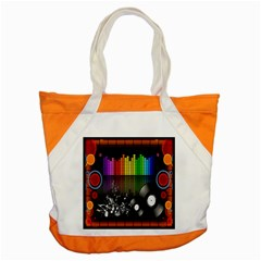 Music Pattern Accent Tote Bag by Simbadda
