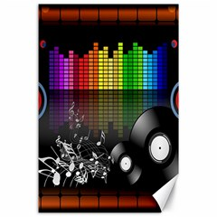 Music Pattern Canvas 24  X 36  by Simbadda