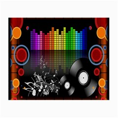 Music Pattern Small Glasses Cloth (2 Side) by Simbadda