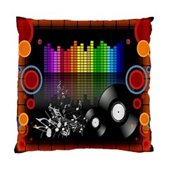 Music Pattern Standard Cushion Case (one Side) by Simbadda