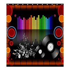 Music Pattern Shower Curtain 66  X 72  (large)  by Simbadda