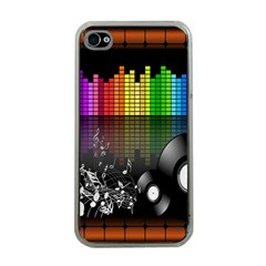 Music Pattern Apple Iphone 4 Case (clear) by Simbadda