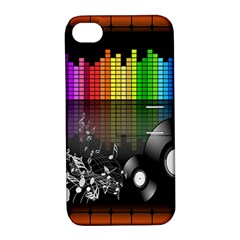 Music Pattern Apple Iphone 4/4s Hardshell Case With Stand by Simbadda