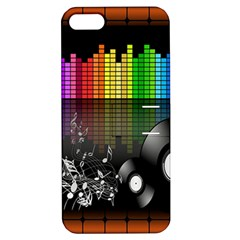 Music Pattern Apple Iphone 5 Hardshell Case With Stand by Simbadda