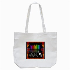 Music Pattern Tote Bag (white) by Simbadda