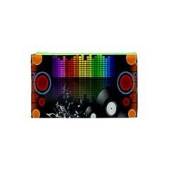 Music Pattern Cosmetic Bag (xs) by Simbadda