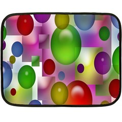 Colorful Bubbles Squares Background Fleece Blanket (mini) by Simbadda