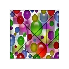 Colorful Bubbles Squares Background Acrylic Tangram Puzzle (4  X 4 ) by Simbadda