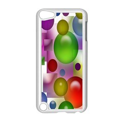 Colorful Bubbles Squares Background Apple Ipod Touch 5 Case (white) by Simbadda