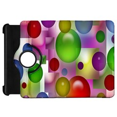 Colorful Bubbles Squares Background Kindle Fire Hd 7  by Simbadda