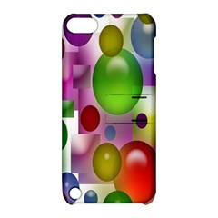 Colorful Bubbles Squares Background Apple Ipod Touch 5 Hardshell Case With Stand by Simbadda