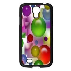 Colorful Bubbles Squares Background Samsung Galaxy S4 I9500/ I9505 Case (black) by Simbadda