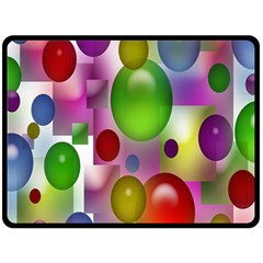 Colorful Bubbles Squares Background Double Sided Fleece Blanket (large)  by Simbadda
