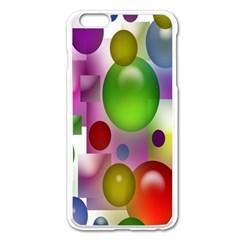 Colorful Bubbles Squares Background Apple Iphone 6 Plus/6s Plus Enamel White Case by Simbadda