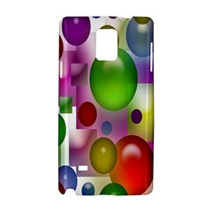 Colorful Bubbles Squares Background Samsung Galaxy Note 4 Hardshell Case by Simbadda