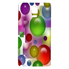 Colorful Bubbles Squares Background Galaxy Note 4 Back Case