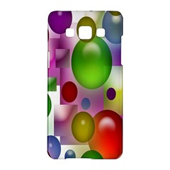 Colorful Bubbles Squares Background Samsung Galaxy A5 Hardshell Case  by Simbadda